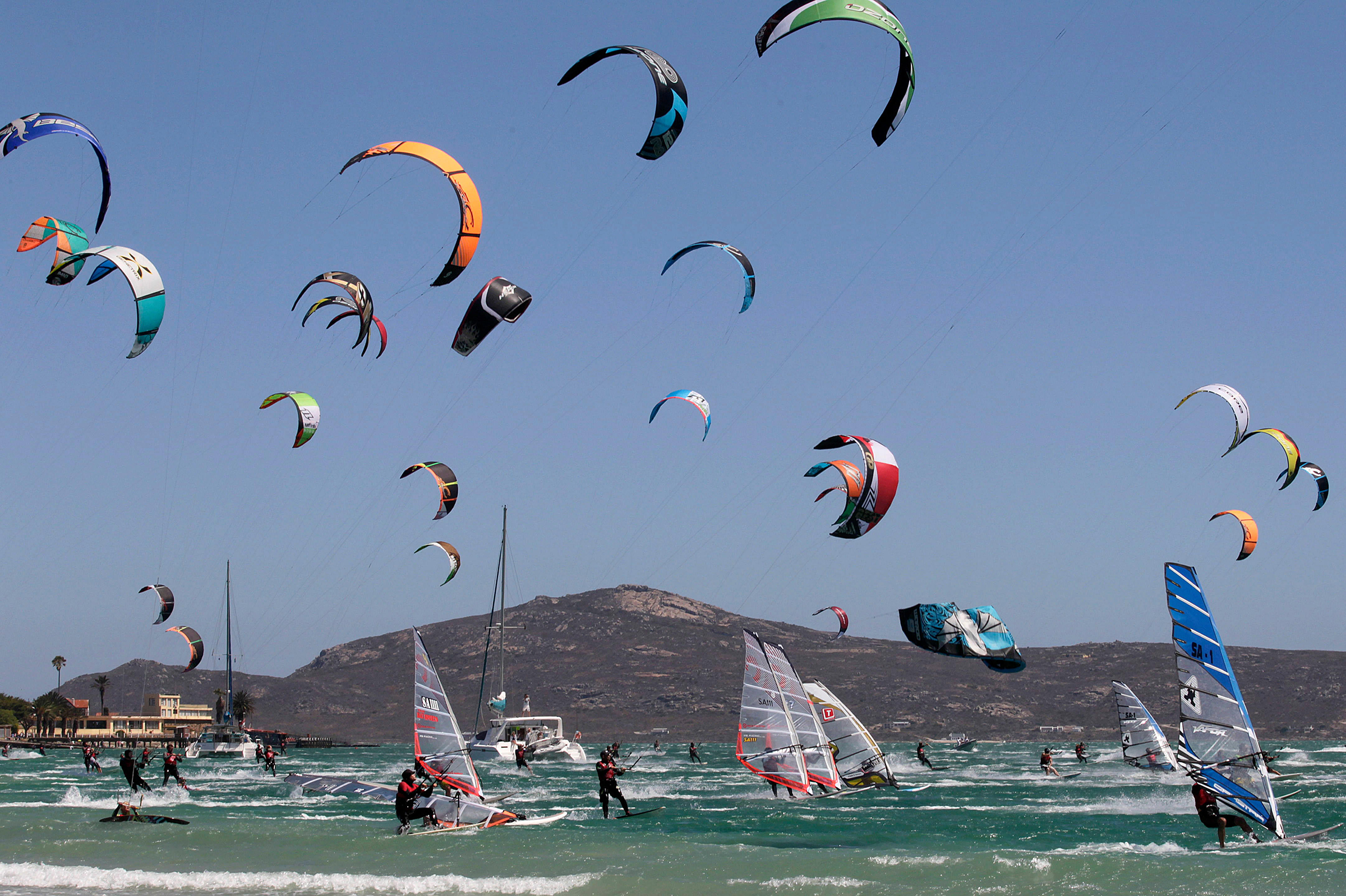2-3 hours from Cape Town Windsurf and cand along the West Coast
