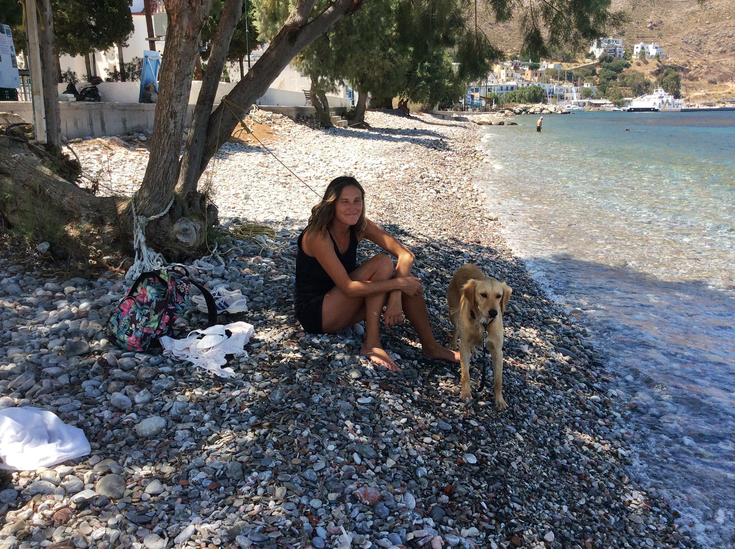 Jennifer Barclay on Tilos Island Greece