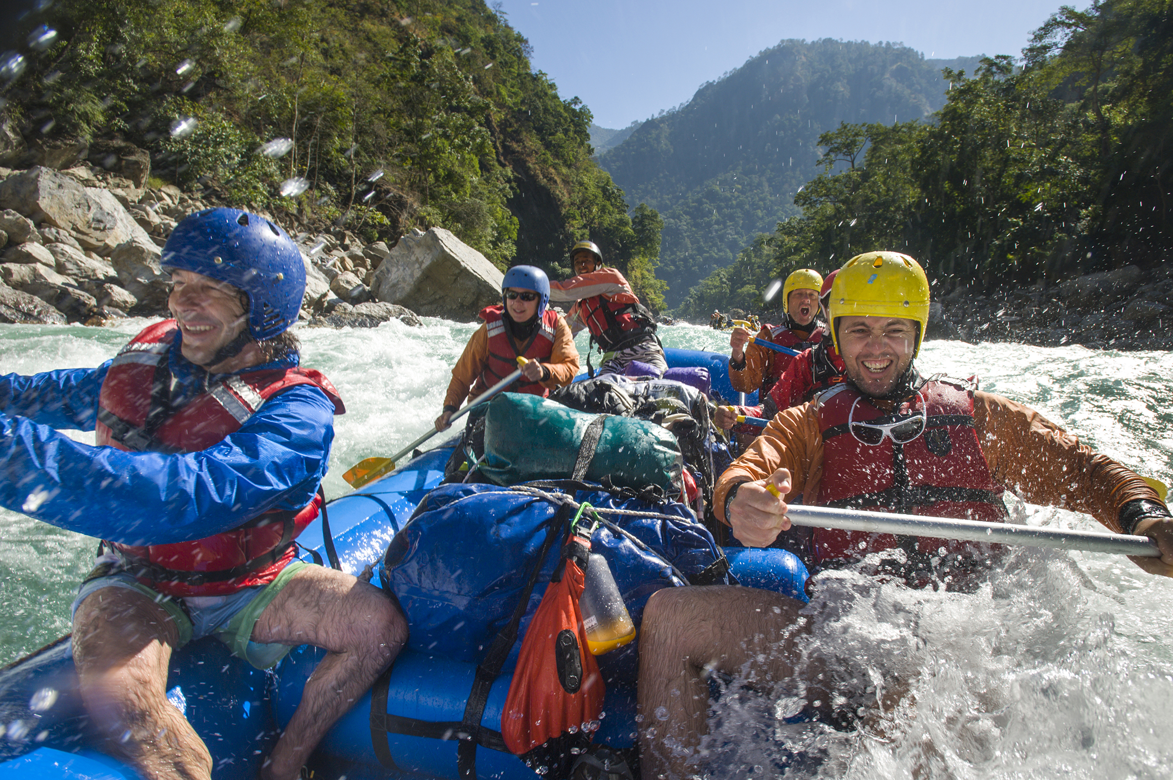 White water rafting adventure travel safety first