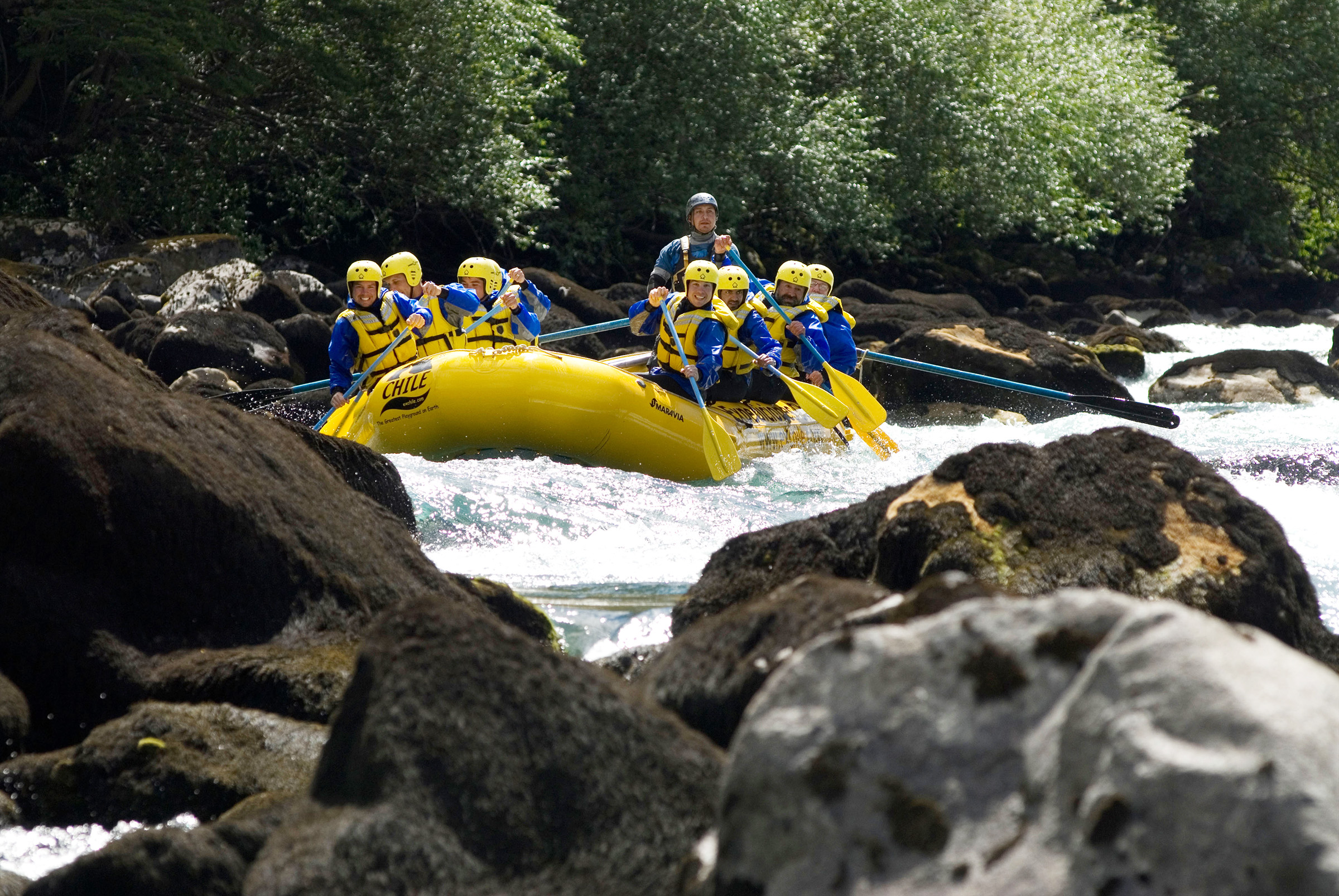 White water rafting Chile adventure travel safety first