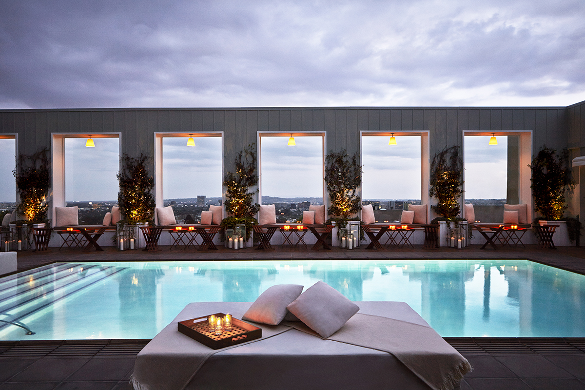 Los Angeles rooftop with pool