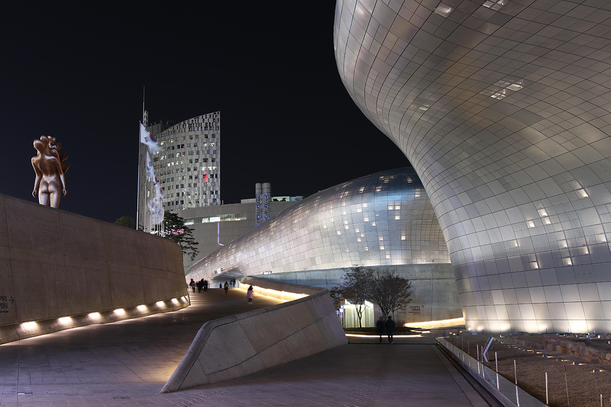Dongdaemun Design Plaza in Seoul Korea