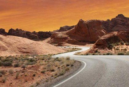 Emozionati sulla Route15 corse di auto a Las Vegas
