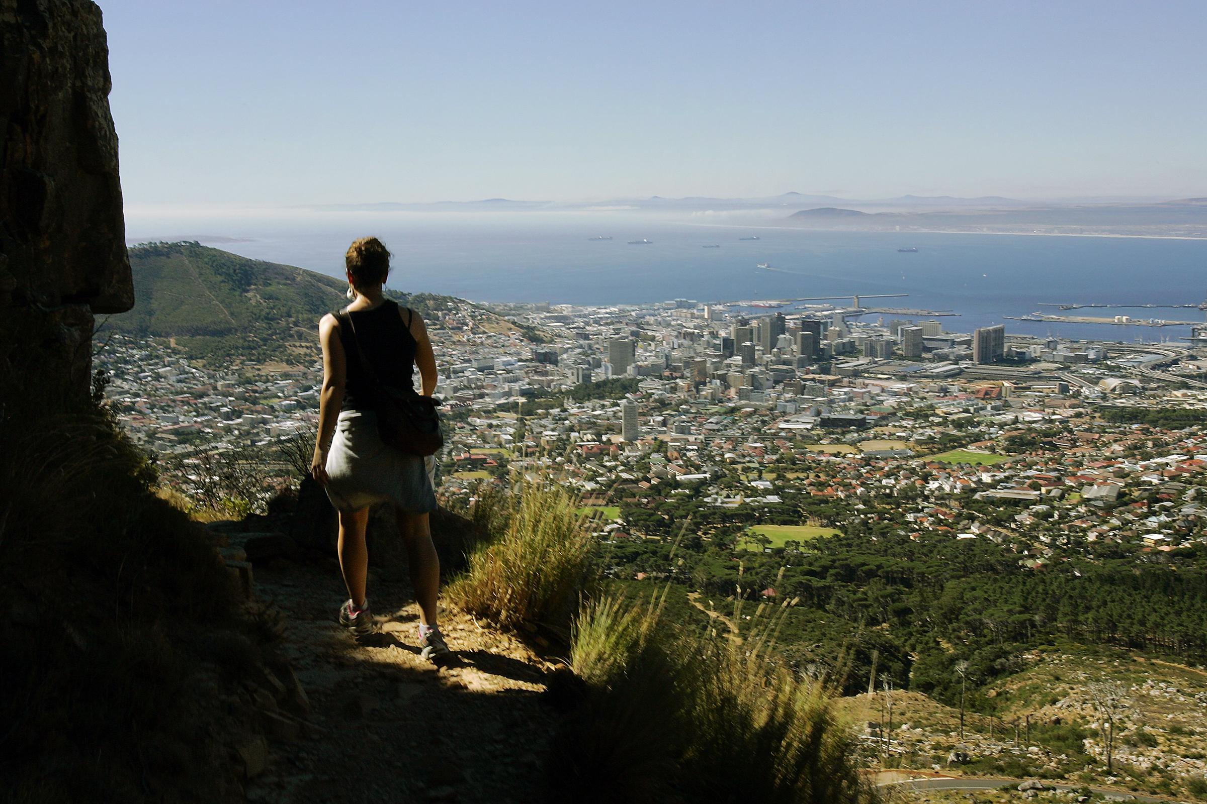 In citt Scalata della Table Mountain