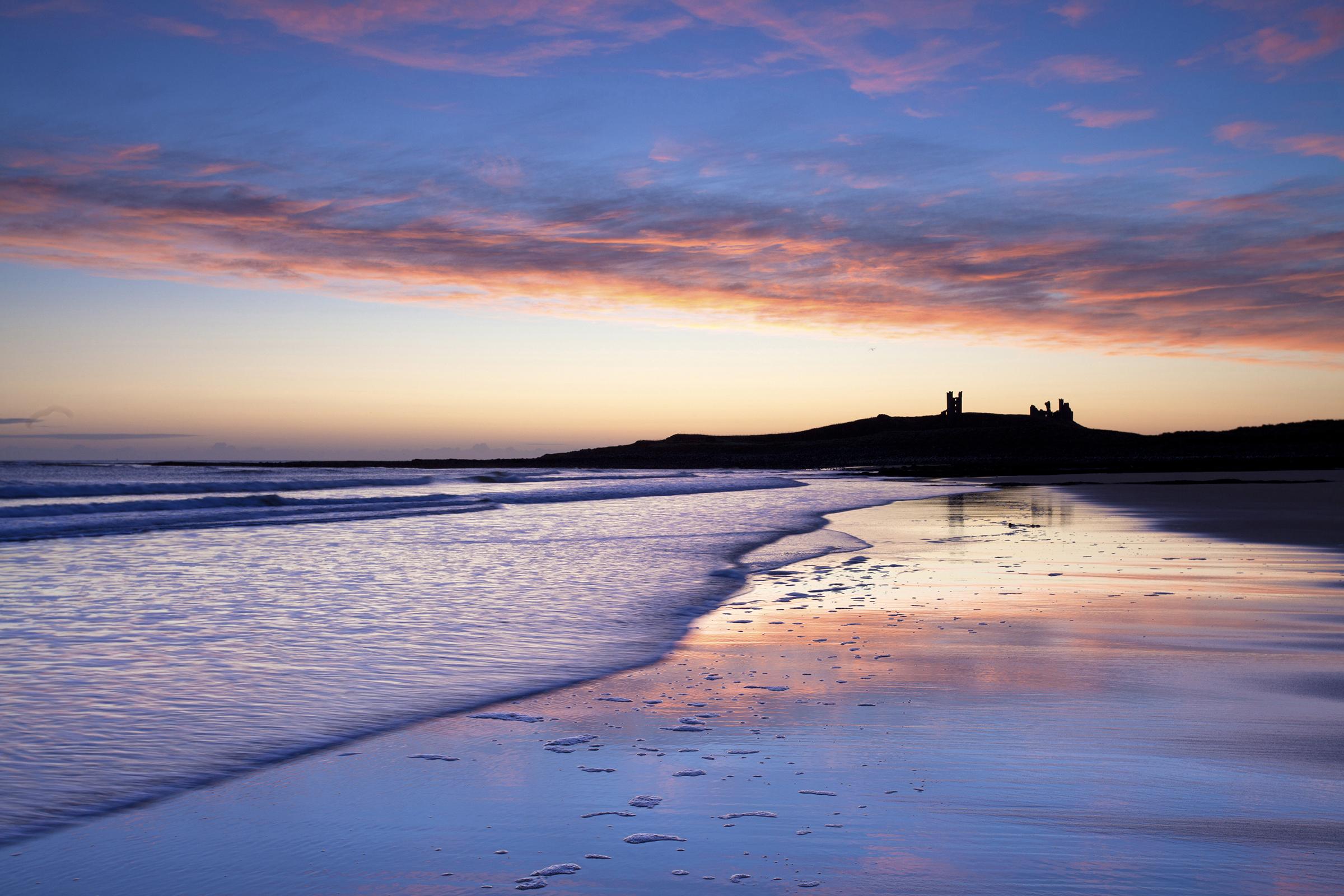 Il meglio per lalbail tramonto Embleton Bay Northumberland Regno Unito