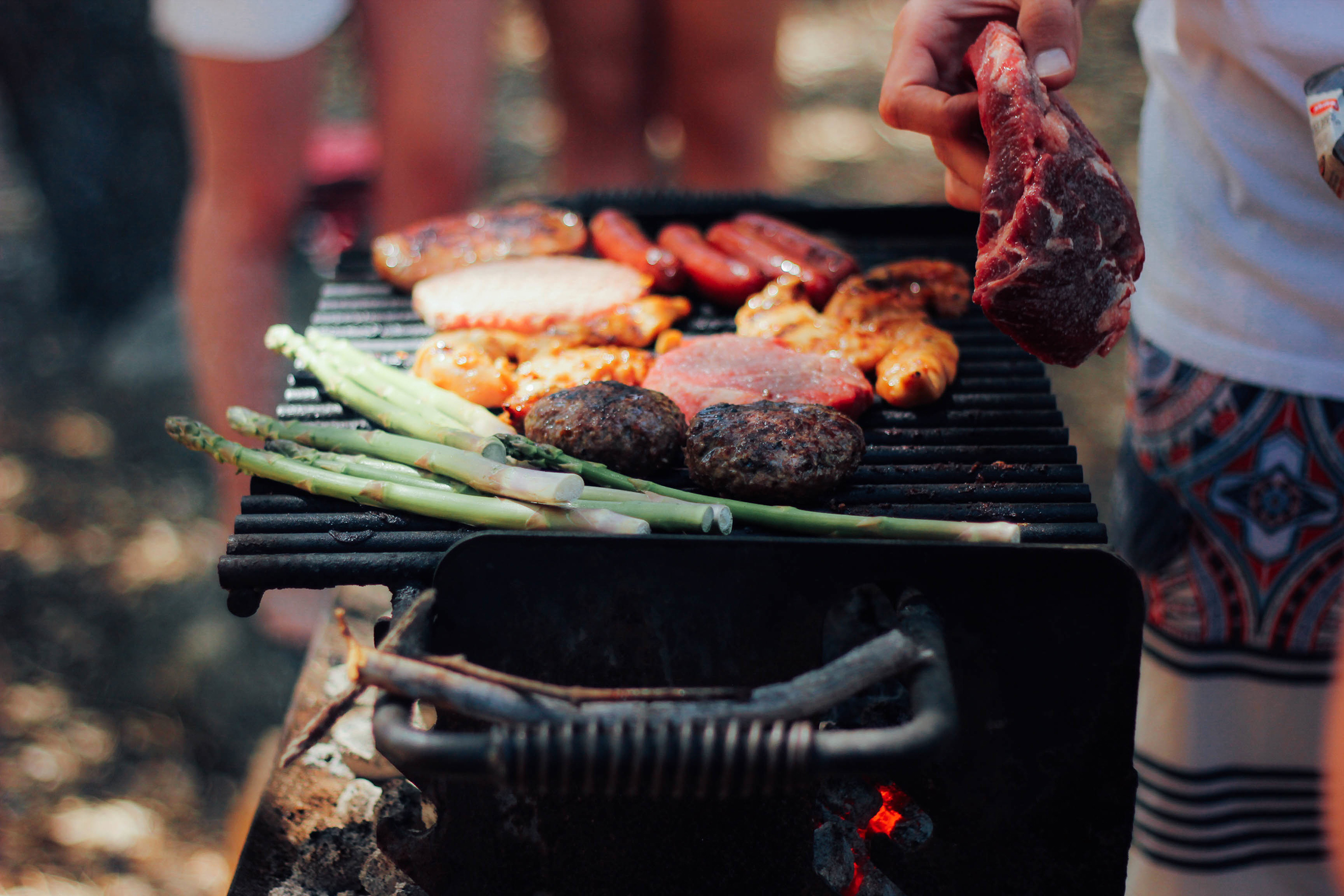 Barbecue cooking in Sydney