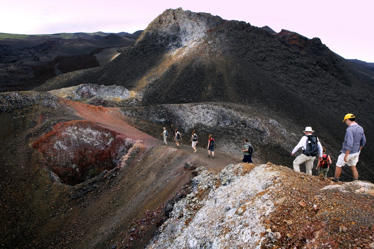 The Galapagos Islands volcanic hike