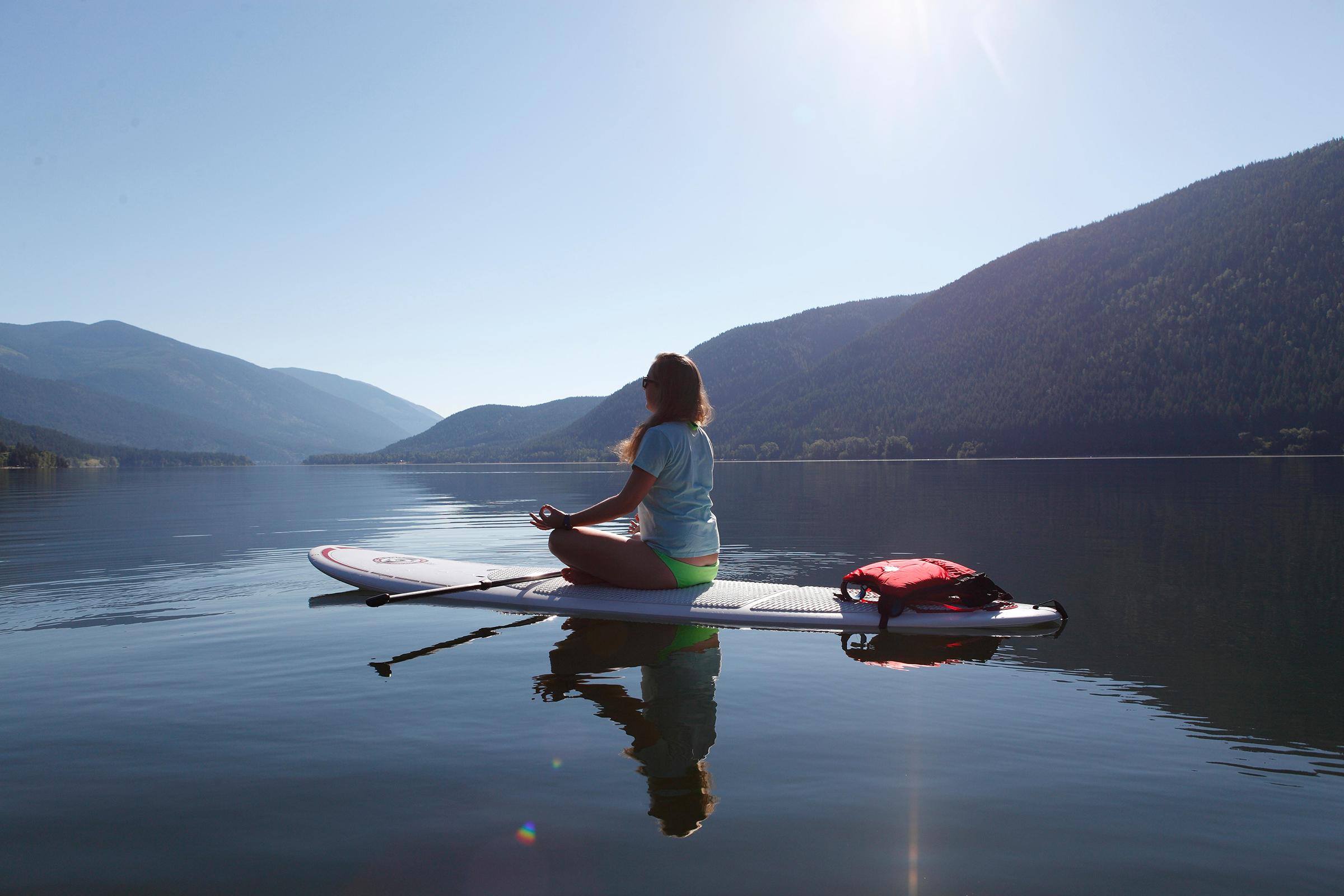 Paddle-board yoga Crete
