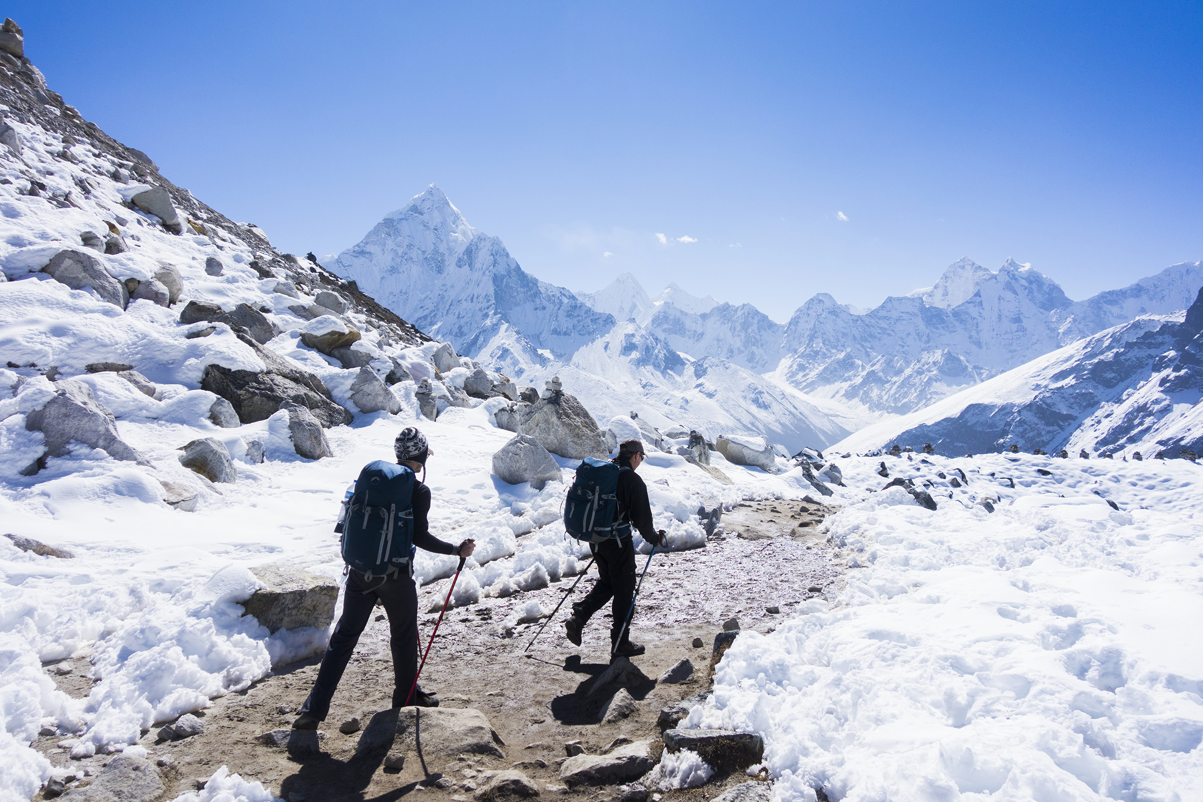 Trekking to Everest base cand in Nepal