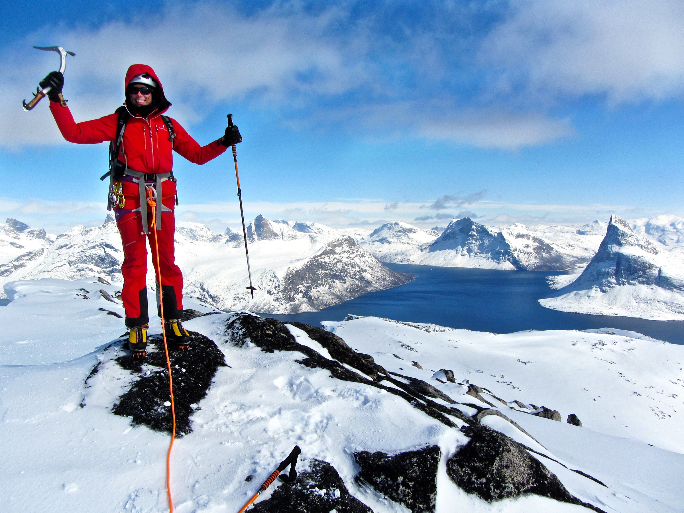 Edurne Pasaban mountaineer Greenland peak