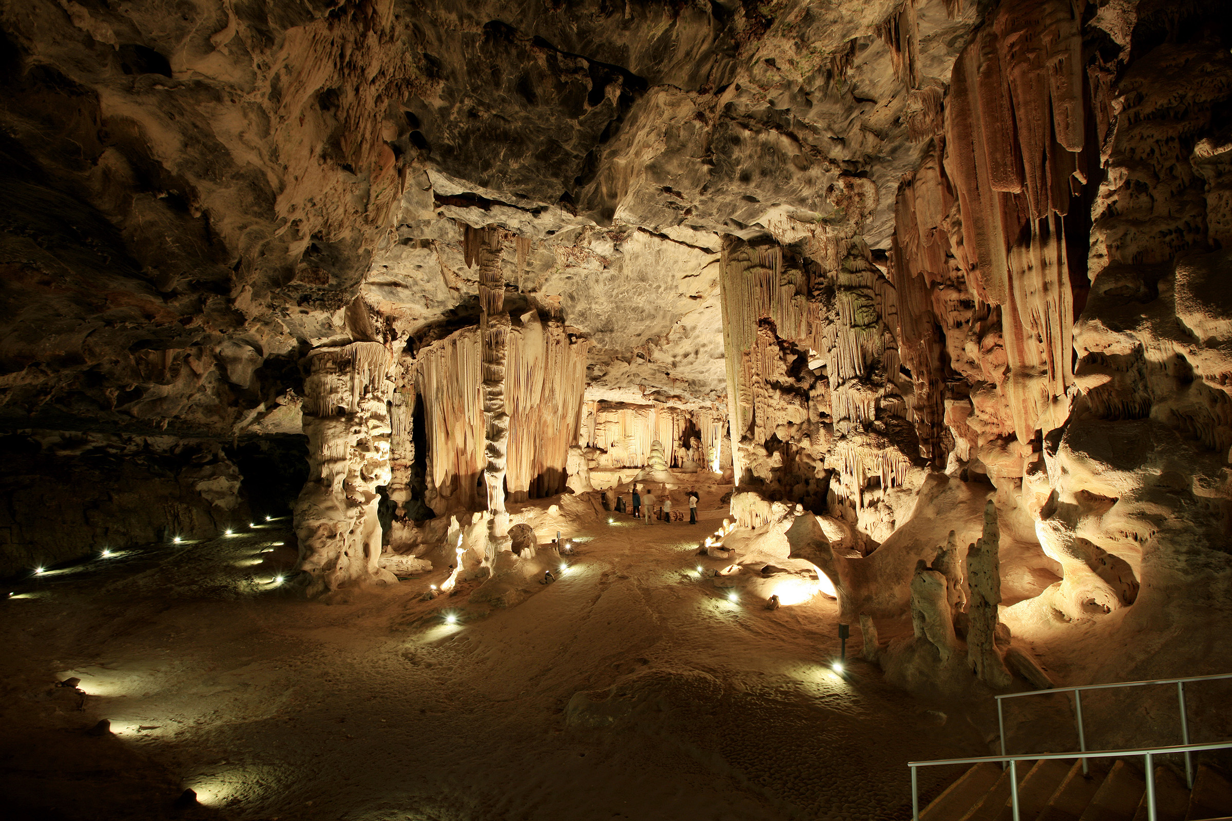 Inside the Cango Caves famous caves at the foothils of the Swartberg range near Oudtshoorn in the Western Cape