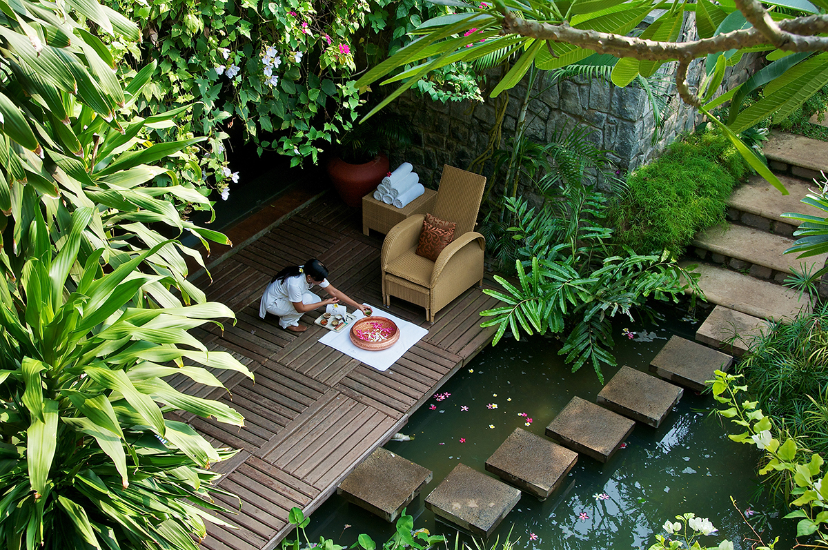 Stepping stones to the Vivanta spa