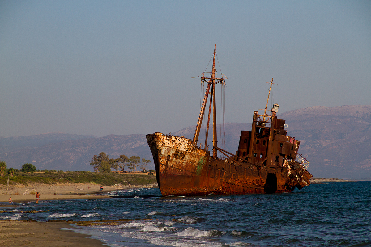Shipwreck on the beach